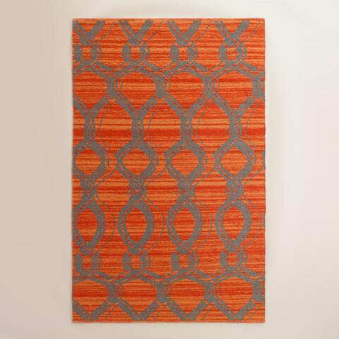 Orange and Gray Ventura Reversible Indoor Outdoor Rug ... - photo#20