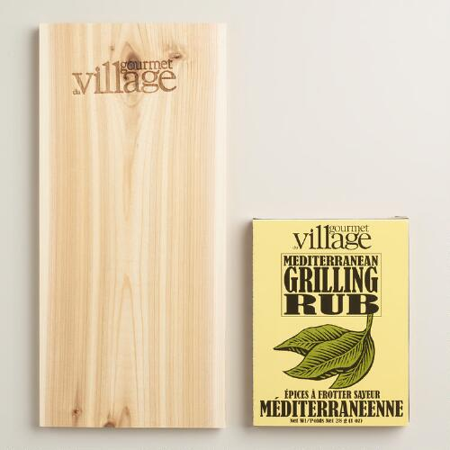 Gourmet du Village Mediterranean Grilling Rub and Plank