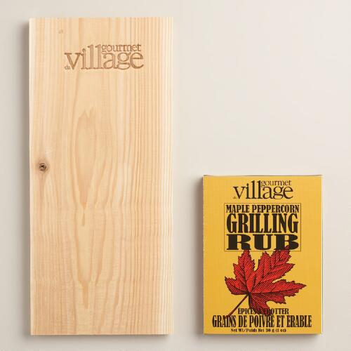 Gourmet du Village Maple Peppercorn Rub and Cedar Plank
