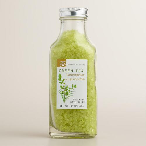 Green Tea & Lemongrass Bath Salts