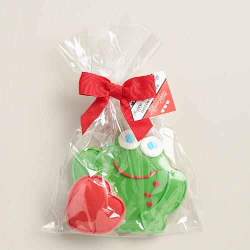 Monaco Frog with Heart Cookie Set of 2