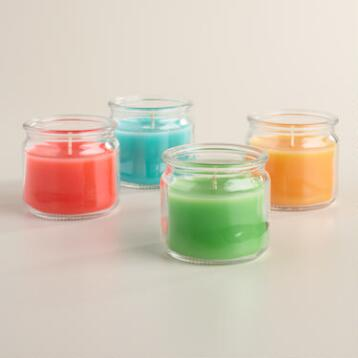 Small Citronella Jar Candles Set of 4