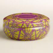 Lemon Blossom Sake Ikat Candle Tin