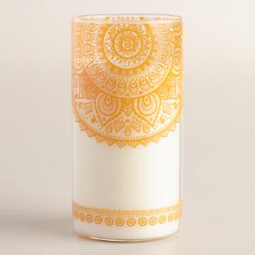 Balinese Citrus Orange Mehendi Jar Candle