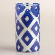 Blue Ikat Fruit Confit Jar Candle