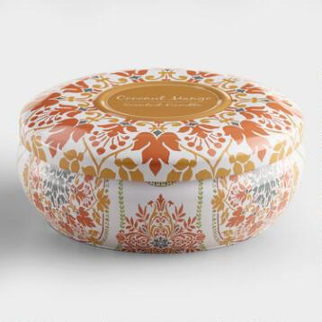 Julianna Coconut Mango Candle Tin