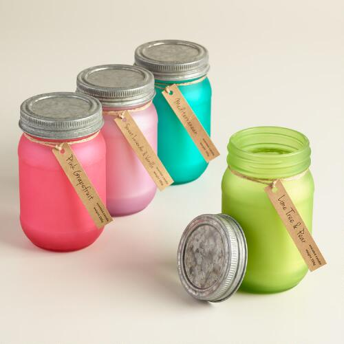 Frosted Mason Jar Scented Candle Collection