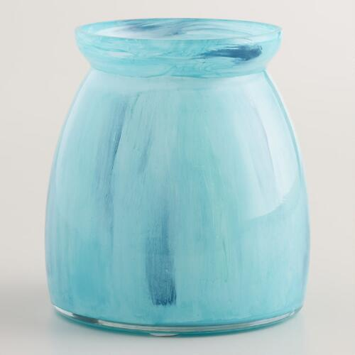 Blue Seascape Bell Votive Holder
