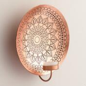 Kalini Antique Copper Medallion Sconce
