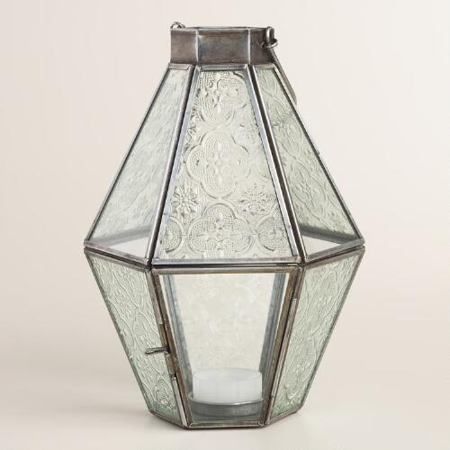Small Clear Glass Raya Tabletop Lantern