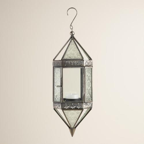 Medium Clear Glass Raya Hanging Lantern