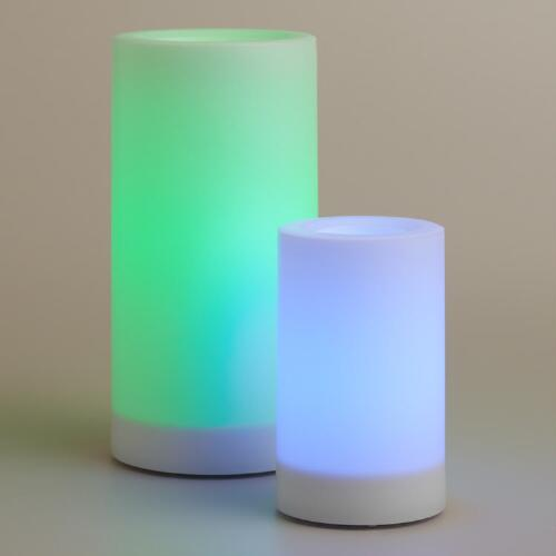 Color Changing Outdoor LED Pillar Candle
