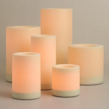 Flameless Outdoor LED Pillar Candle Collection