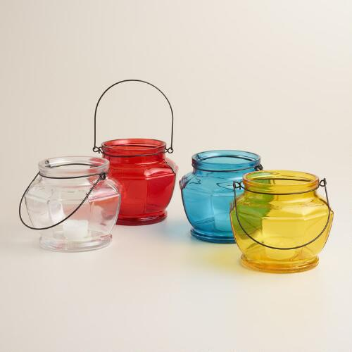 Glass Hexagon Lantern Candleholder Collection