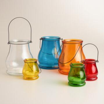 Glass Teardrop Lantern Candleholder Collection