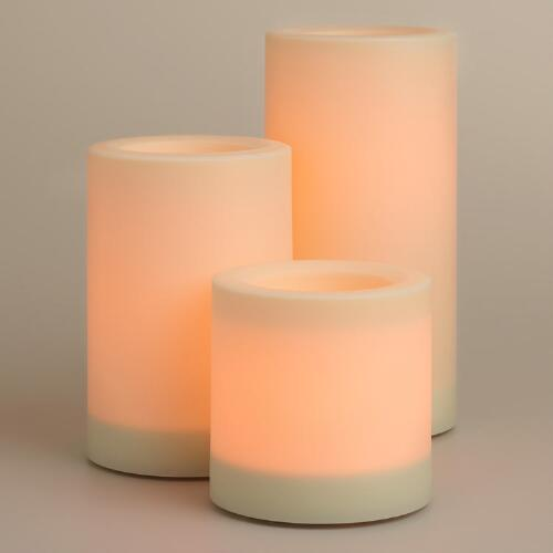Large Flameless Outdoor LED Pillar Candle