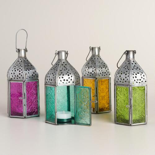 Mini Colored Glass Raya Tabletop Lantern