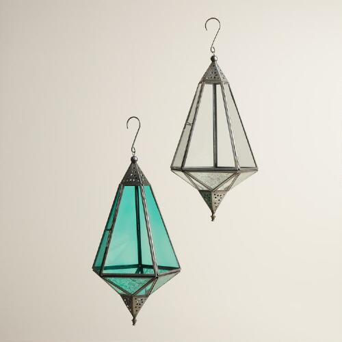 Stamped Glass Teardrop Raya Lantern