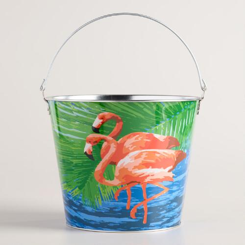 Flamingo Metal Ice Bucket