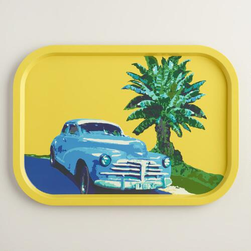 Vintage Car Tin Tray