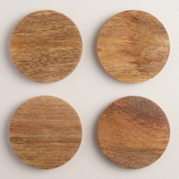 Mango Wood Coasters Set of 4