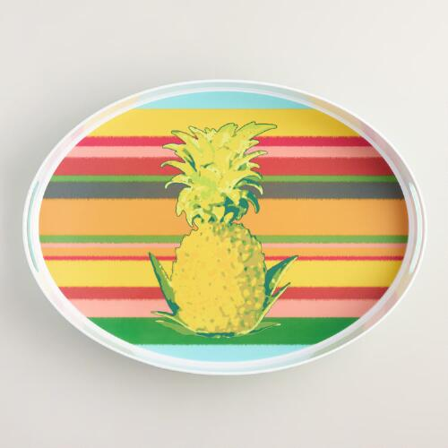 Pineapple Stripe Serving Tray