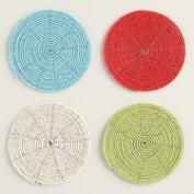 Round Beaded Coasters Set of 6