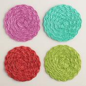 Poly Braided Coasters Set of 6