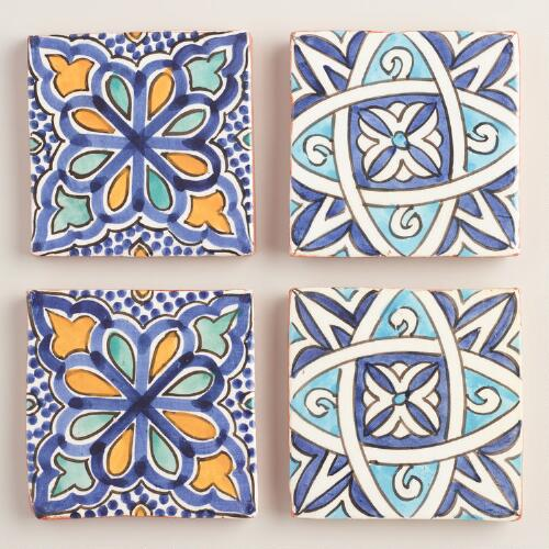 Moroccan Terracotta Coasters Set of 4