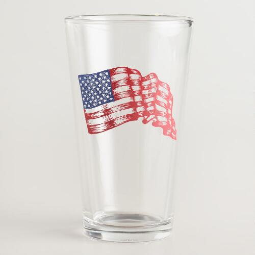 USA Pint Glasses Set of 4