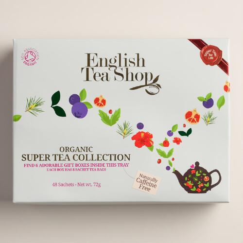 English Tea Shop Organic Spring Tea Gift Box 48 Count