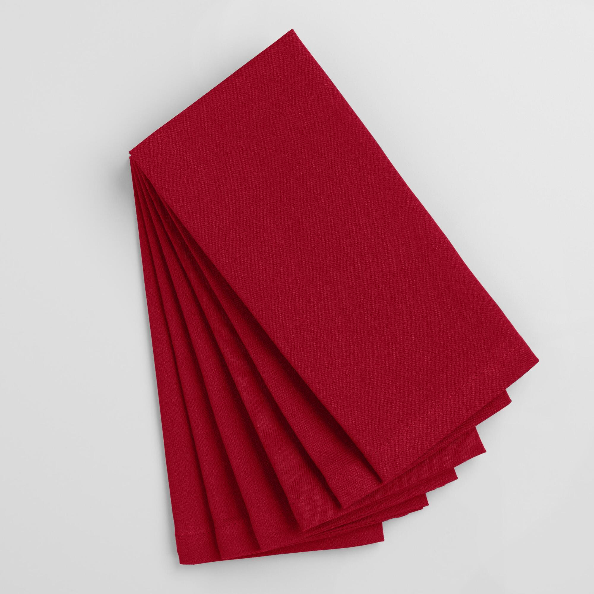 Chili Pepper Red Buffet Napkins Set Of 6 World Market