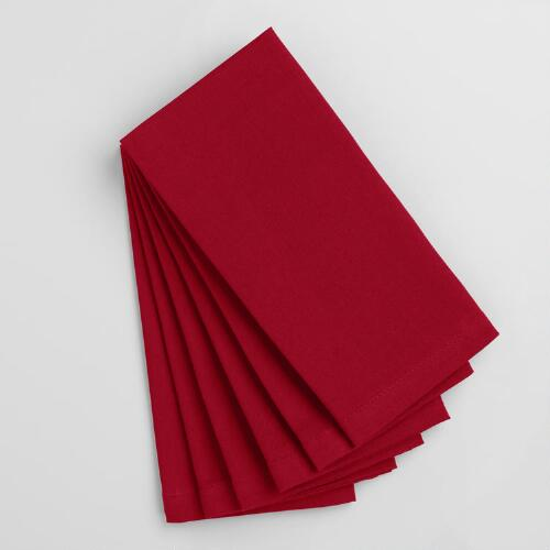 Chili Pepper Red Buffet Napkins Set of 6