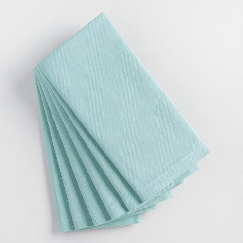 Stone Blue Buffet Napkins Set of 6