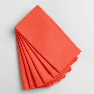 Coral Buffet Napkins Set of 6
