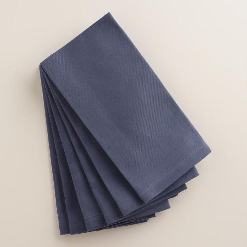 Indigo Blue Buffet Napkins Set of 6