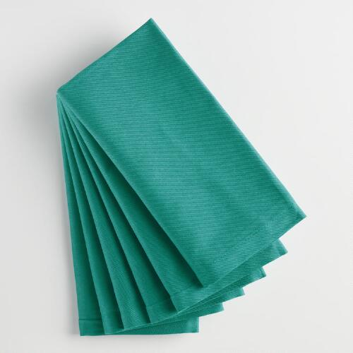 Deep Jungle Teal Buffet Napkins Set of 6