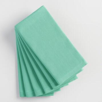 Dusty Aqua Buffet Napkins Set of 6