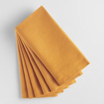 Golden Yellow Buffet Napkins Set of 6