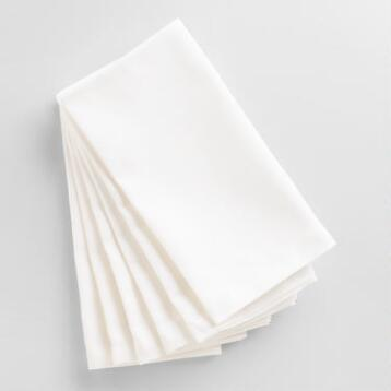 White Buffet Napkins Set of 6
