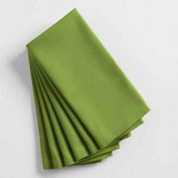 Olivine Green Buffet Napkins Set of 6
