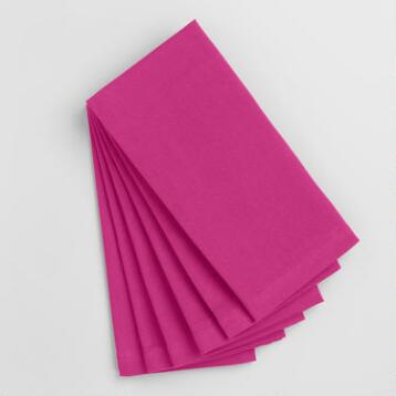 Fuchsia Buffet Napkins Set of 6