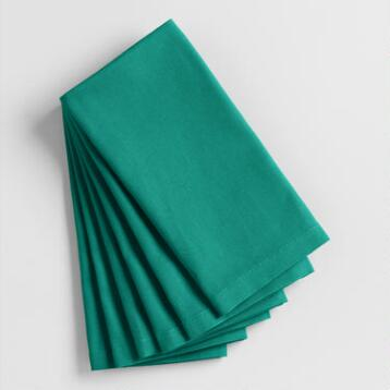 Fanfare Teal Buffet Napkins Set of 6