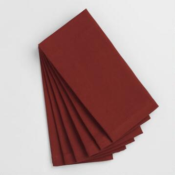 Henna Red Buffet Napkins Set of 6