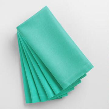 Turquoise Blue Buffet Napkins Set of 6
