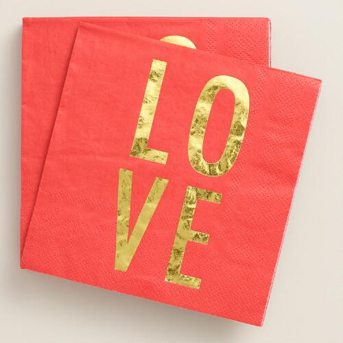 Love Beverage Napkins 20 Count
