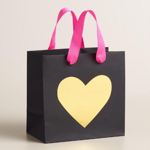 Small Square Love Gift Bags Set of 2