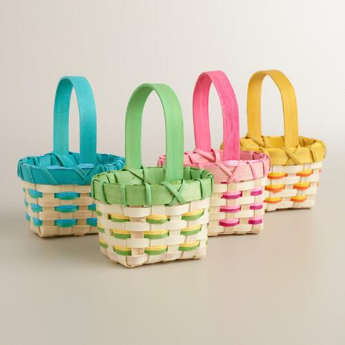 Mini Rope Easter Baskets Set of 4