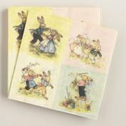 Vintage Bunny Lunch Napkins 20 Count