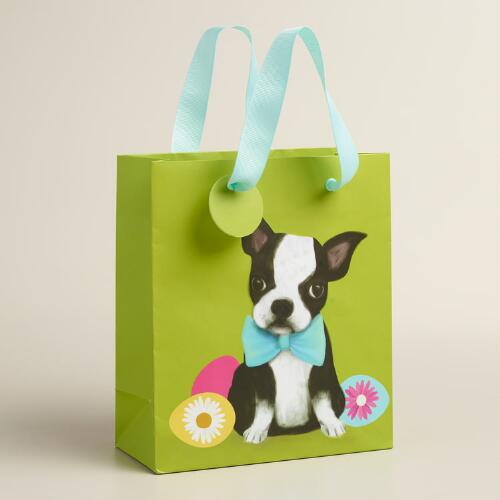 Small Puppy Kraft Gift Bags Set of 2